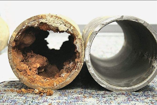 clogged drain pipes