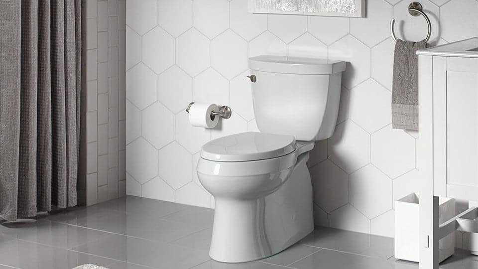 newly installed toilet